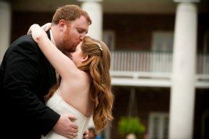 wedding kiss forehead